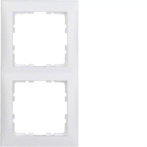 Hager S1 polarweiss Berk Rahmen 10129909 2fach matt