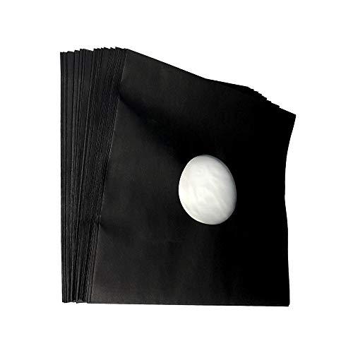 12 inch platte LP-binnenhoes zwart gevoerd (50 stuks)