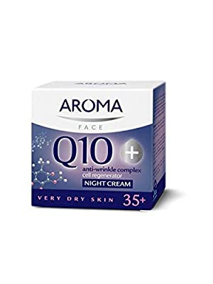 AROMA Anti-Wrinkle Q10 Plus Night Cream For Very Dry Skin, 35 Plus, 50 ml