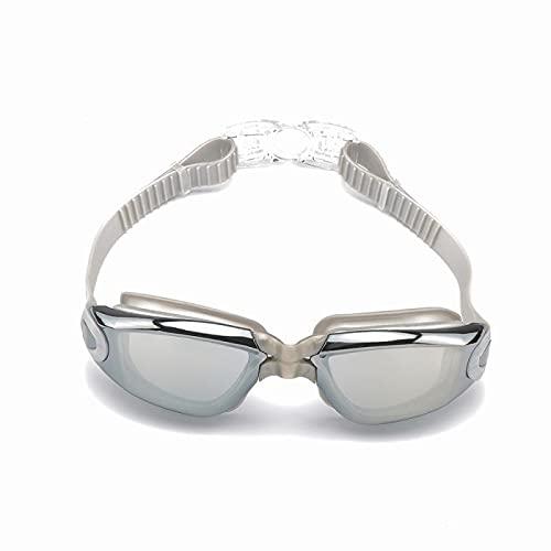 WHBGKJ Gafas de natación para niños Galvanoplastia Anti-UV Anti-Niebla Traje de baño Gafas natación Buceo Regulable natación Gafas Damas Hombres natación Gafas con Caja (Color : 03)