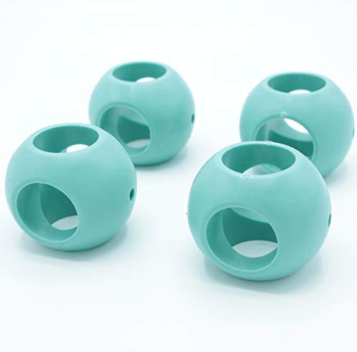 FISHTEC Boule Magnétique Anticalcaire - Lot de 4 (2 lave vaisselle + 2 lave linge/Machine à Laver) - Boule de Lavage Ecologique, Protège du Calcaire sans Détergent