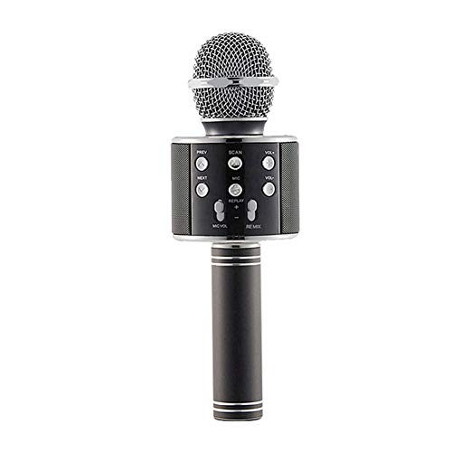 Seasaleshop Karaoke microfoon voor kinderen, draadloze microfoon, draagbare bluetooth-thuisspeler, uitstekende audiokwaliteit voor zang en opname, compatibel met Android en iOS