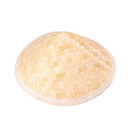 LIOOBO Sombrero Cnico Vietnamita Tradicional Sombrero de Arroz Japons Asitico Sombrero de Sol Chino Sombrero de Bamb de Granjero 23.5 * 14.5 CM