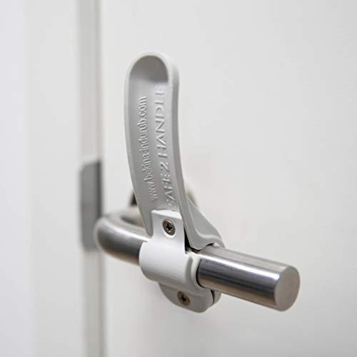 Türöffner ohne Handen, Hygiene Haken im 2er Set, kontaktloser Tür Griff zum Öffnen mit Ellenbogen oder Handgelenk, ideal für Restaurants, Krankenhäuser, Toiletten, einfach zu reinigen