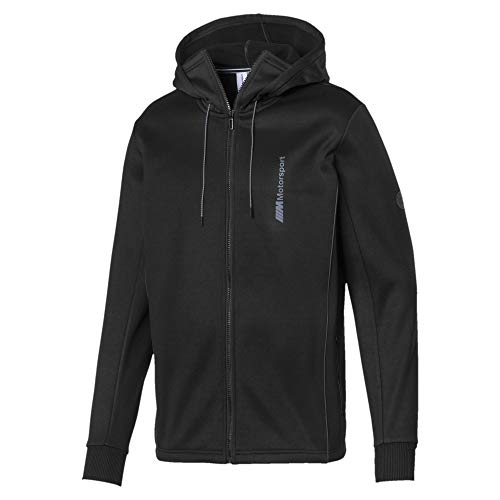 PUMA Mens BMW Motorsport Life Sweat Jacket Sweatshirt Black Medium