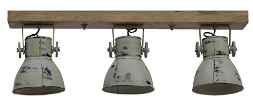 Hängelampe Deckenlampe Deckenspot Deckenstrahler Spotlampe Spot Retro Vintage Shabby Design für E27 Leuchtmittel (3er Spot)