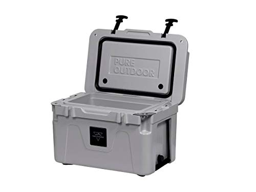 Monoprice Emperor Cooler - 25 Liters - Gray | Securely Sealed, Ideal for The Hottest and Coldest Conditions - Pure Outdoor Collection