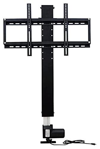 TabloKanvas Soporte de TV de 700 mm automático de plasma/LCD motorizado para televisión, soporte de elevación para TV y ahorro de espacio (color: negro, tamaño: longitud de carrera 700 mm)