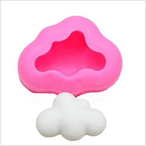 EPRHAY - Stampo in silicone 3D con nuvole di fondente, decorazione per torte, cioccolato, caramella, pasta polimerica, cupcake, gelatina, zucchero, decorazione per torte