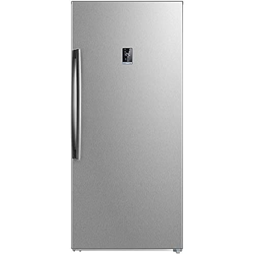 Midea 17-cu. ft. Upright Convertible Freezer in Stainless Steel