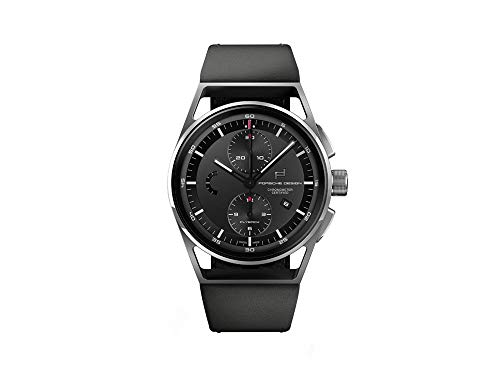 Porsche Design 1919 Chronotimer Flyback Automatik Uhr, Titan, Black & Leather