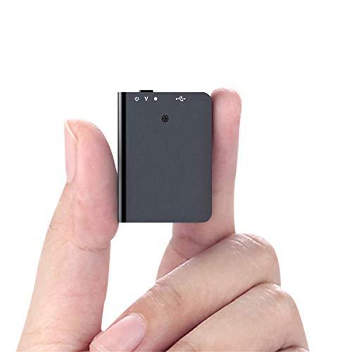 Mini Registratore Vocale da 16GB con Riproduzione, Spia Registratore Vocale con Attivazione Vocale e Ricarica USB - Registratore Portatile per Lezioni, Meeting, Colloqui, Apprendimento