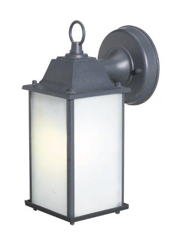 Woodbridge Lighting 60001WL-BKP Outdoor Wall Sconce, Powder Coat Black