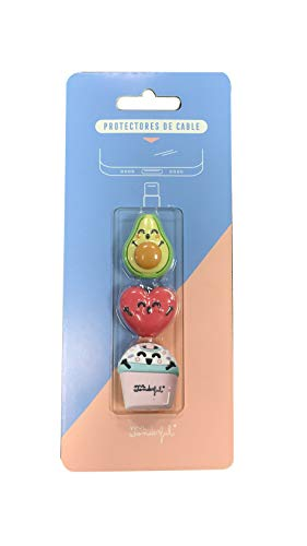 Mr. Wonderful Pack 3 Protectores Cable Corazón- Aguacate- B