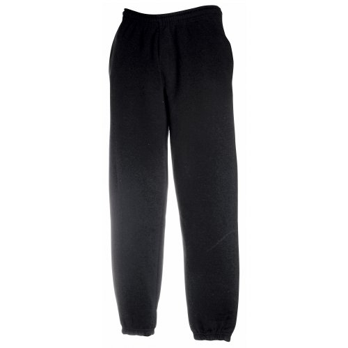 Fruit of the Loom Classic Elasticated Cuff Jog Pants Kids - Farbe: Black - Größe: 164 (14-15)