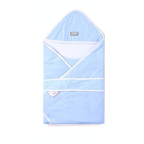 Katoenen deken, sterilisatie op hoge temperatuur Vacuümverpakking Babydeken Pasgeboren benodigdheden, blauw
