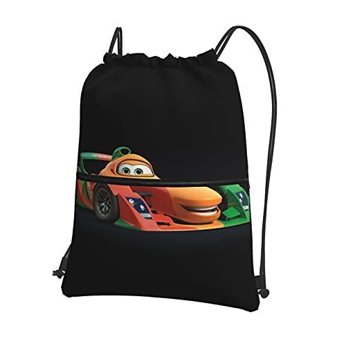 Disney Cars Lightning McQueen - Bolsa de viaje deportiva con cordón, mochila ligera para hombres y mujeres