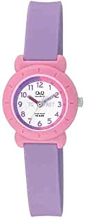 Q&Q Kids White Dial Fiber Band Watch - Vp81J017Y, Purple Band, Analog Display