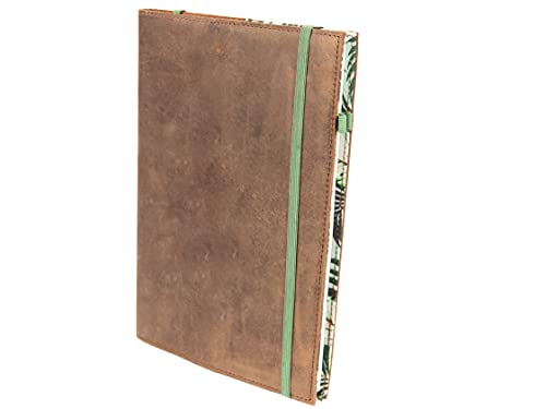 skaard Taccuino | A5 | Carta riciclata punteggiata | Pelle Vintage | Design Tropicale | Ricaricabile