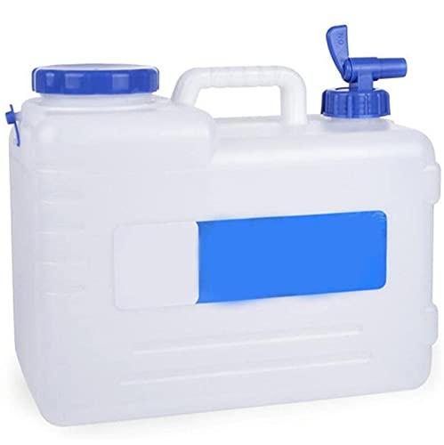 MIAOKU 15L Cubo de Almacenamiento de Agua al Aire Libre, Contenedor De Agua Portátil con Grifo, Cubo De Agua De Plástico Espesado, para Senderismo Auto-Conducción