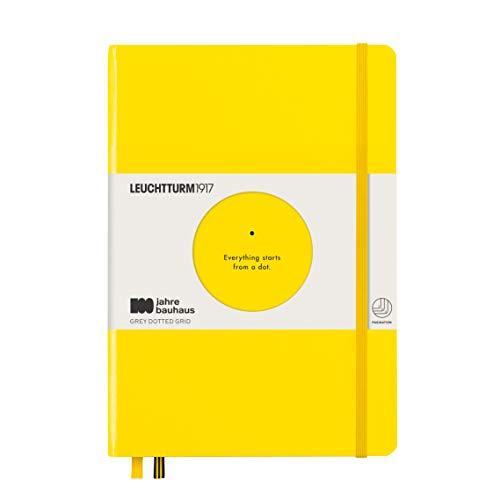 LEUCHTTURM1917 359620 Notizbuch Medium (A5), Hardcover, 251 nummerierte Seiten, Zitrone, bauhaus 100