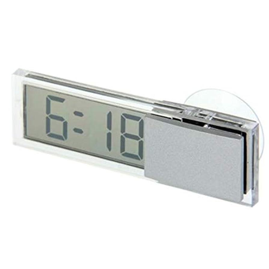 減らす気楽なすみませんYデパートセンター55? 小型 シンプル 超薄型 デジタル時計 吸盤式 車載 キッチン リビング