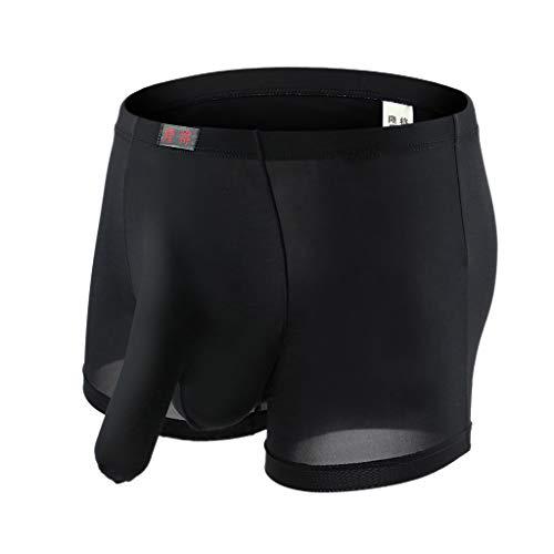 manuFe9 Herren Tanga Elefant Reizvolles Thong Beutel T Dessous Erotik Slips Unterhosen mit Rüssel, Unterwäsche Stringtanga Scherzartikel Geburtstagsgeschenk