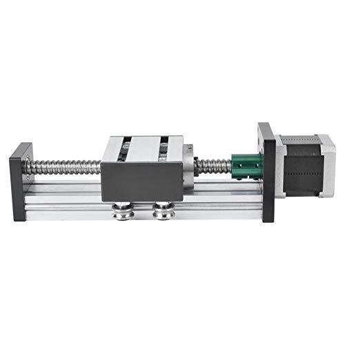 L-MEIQUN, Tornillo de 400 mm Deslizamiento Lineal Guía de aleación de Aluminio Guía de un Solo Eje Etapa de la Etapa con 57 Motor Geleiderail Rodamiento de Bolas lineales (Color : 1204)
