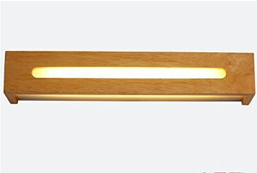 Flashing badkamerspiegel met dimming, mode, hout, wandlamp voor hal, trappen, Europese stijl, LED, make-uptafel, spiegel van hout (kleur: verwarming, maat: L)