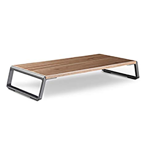 YYLL Aluminum Alloy Desk Monitor/Notebook/Laptop Stand Space Bar anti-slip Desk Riser Loading 12kgs (Color : Brown)