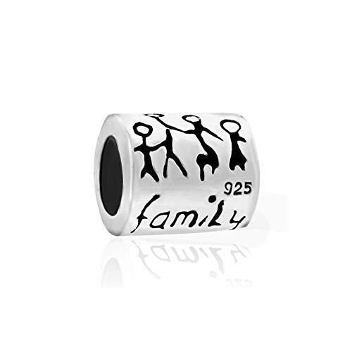 PoeticCharms Love Familienbande Family Familie 925 Sterling Silber charms Bead für European Armband
