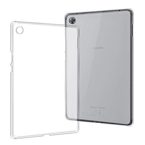 Custodia per Huawei MediaPad M3 8.4 pollici Cover BTV-W09 BTV-DL09 Cover per tablet 360 Full Protecive Custodia morbida trasparente con retro MediaPad M3 8.4-Solo custodia trasparente