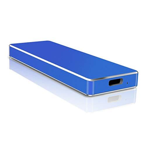 Hard Disk Esterno, Hard Disk Esterno USB3.1 Type C Hard Disk per Mac, PC, PS4, Desktop,MacBook, Xbox One (1TB,Blu)
