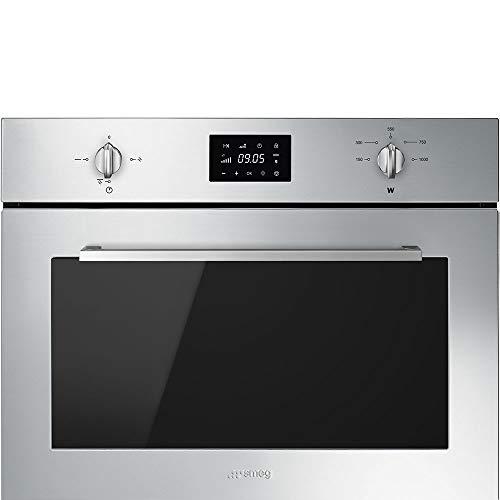 Smeg SF4400MX micro-onde Intégré - Micro-ondes (Intégré, Micro-ondes grill, 32 L, 1000 W, Rotatif, Tactil, Acier inoxydable)