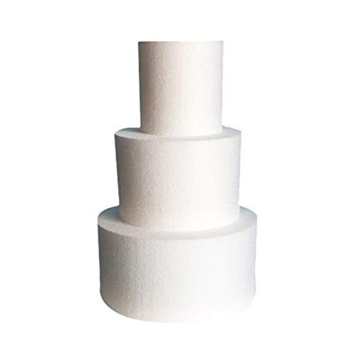 BESTonZON Poliestireno de Tarta Pastel de Espuma Redondo Práctica Molde Pastel 4 Pulgadas