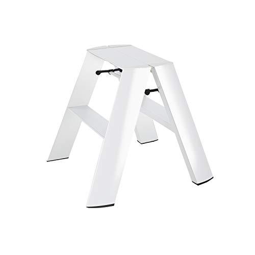 Hasegawa Ladders Lucano Step Stool, Wide 2, White