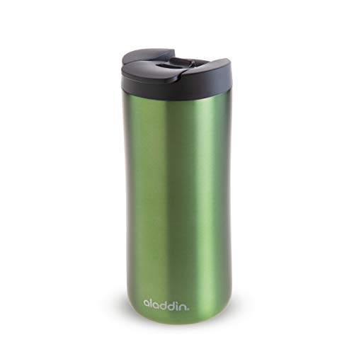 Aladdin Leak-Lock Thermavac Stainless Steel Mug Thermobecher, Edelstahl, Green, 0.35 L