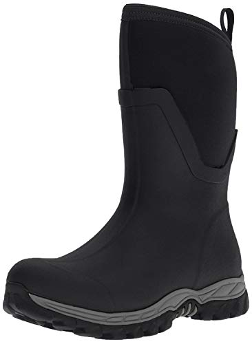Muck Boot Arctic Sport II Extreme Conditions Mid-Height Rubber Women's Winter Boot, Black, 11 US/11 M US