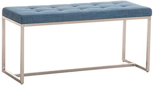 Taburete de pie de cama con decoración de tela 2 personas Banco, Banco moderno, base de acero inoxidable,B