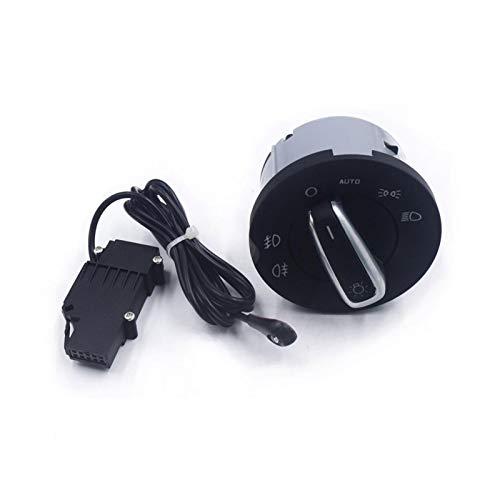 YINLONG Ajuste para Skoda Octavia II 2004 2005 2006 2007 2008 2009 2010 2011 2013 lámpara antiniebla Interruptor de Faro Sensor Chrome 1Z0941431k (Color : Set)