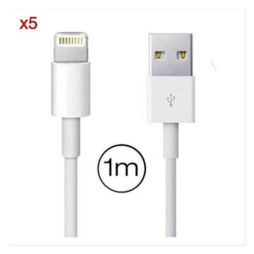 Oplaadkabel iPhone 5 stuks (1 m) Lightning-kabel compatibel met iPhone XS X XR 11 10 8 8 Plus 7 7 Plus 6 6S Plus 5S 5C 5 iPad