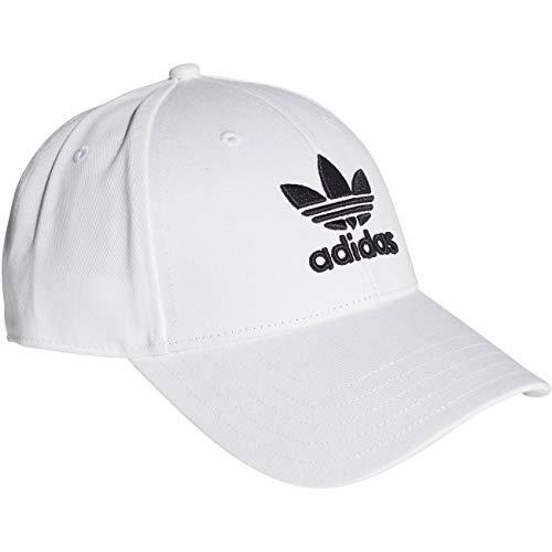 adidas Baseball Class Trefoil Cappellino con Visiera, Uomo, White/Black, Taglia Unica