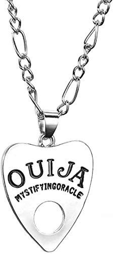 Yiffshunl Collar Moda Mujer Hombre Forma gótica Tablero Colgante Collar de Cadena Estilo de joyería
