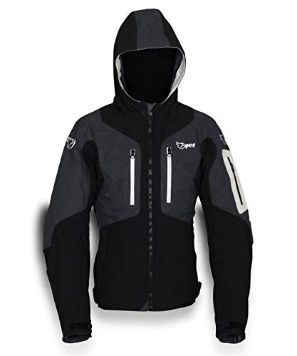 Jet Motorcycle Motorbike Jacket Mens Waterproof Armoured 360 Reflective Super...