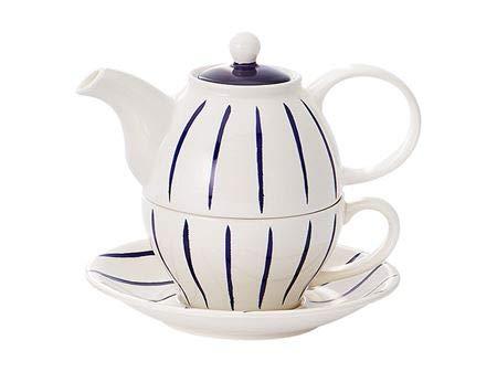 Cha Cult Hinnerk - Juego de té (4 piezas, jarra de 0,4 l, taza de 0,2 L)