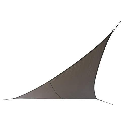 QUUY 3,6 x 3,6 m Toldo parasol triángulo impermeable protección solar toldo piscina Baldain Baldaquin con tiras de luz de 10 m, anillo en D y cuerdas, UV Block toldo para Courtyards Gardens Lawns