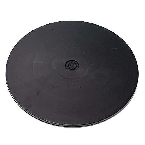 PrimeMatik - Base giratoria manual de 30,6 cm. Plataforma rotatoria de color negro