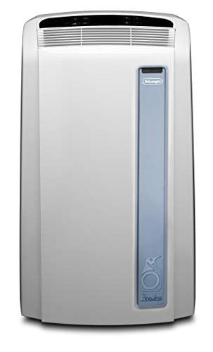 De'Longhi Pinguino PAC AN98 ECO Silent - mobiles Klimagerät mit Abluftschlauch, Klimaanlage für Räume bis 95 m³, Luftentfeuchter, Ventilationsfunktion, 24h-Timer, 2,7 kW, weiß/blau