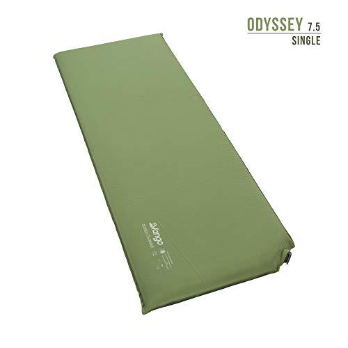 Vango Odyssey Selbstaufblasende Schlafmatte, Epsom Green, 7.5cm