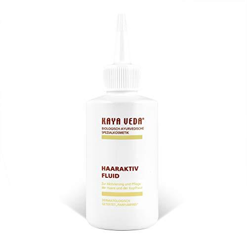 KAYA VEDA natürliche Haaraktivfluid gegen Haarausfall (150 ml) / Vegane Haarpflege für Männer, Frauen & Kinder/Ayurveda Haarausfall zur Pflege der trockenen Knopfhaut/Haarwachstum Serum